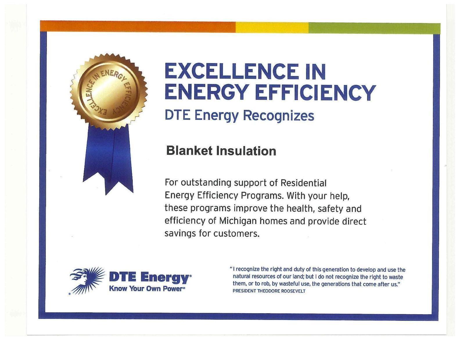 DTE Energy Award
