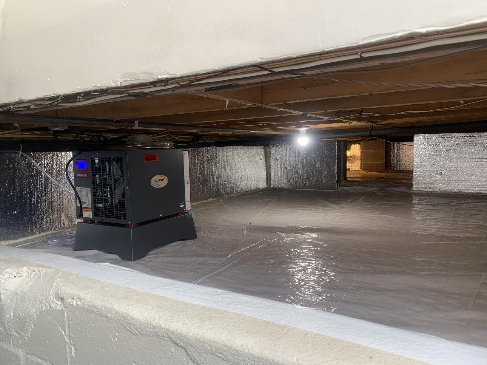 Crawlspace Encapsulation and SaniDry Sedona- Bay Shore, NY