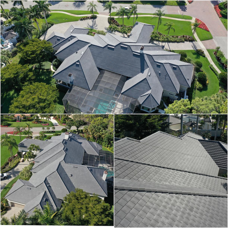 Collage Concrete Tile Re-Roof Naples, FL