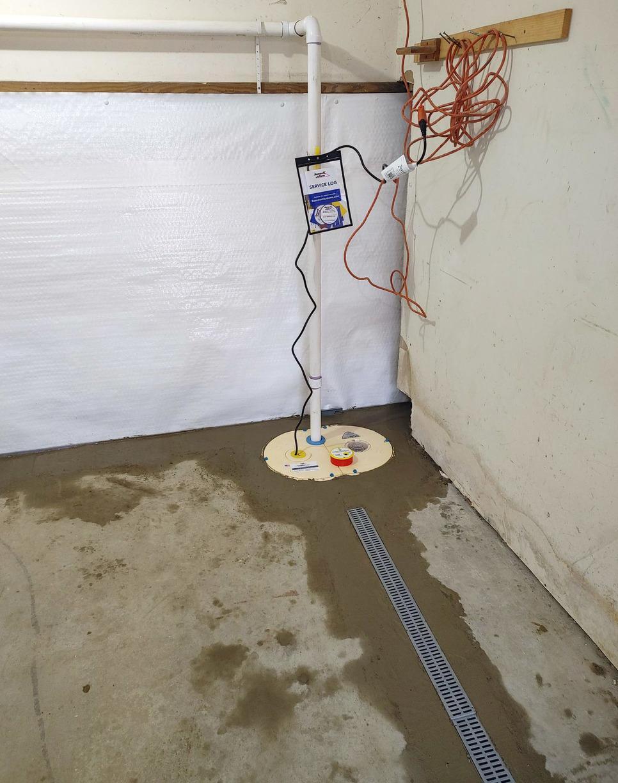 Basement Waterproofing in Hanover, New Hampshire, by Matt Clark's Northern Basement Systems.