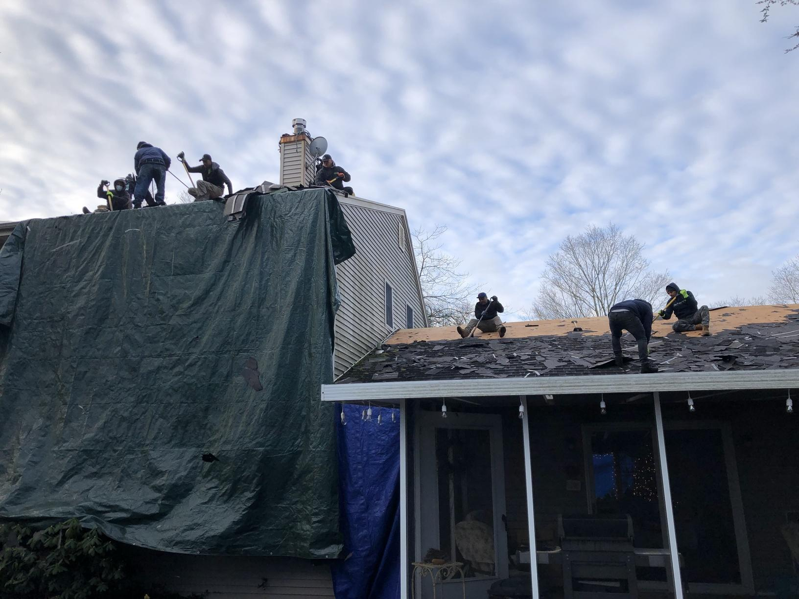 Property Protection & Old Roof Removal- Smithtown, NY