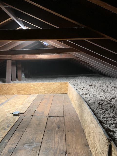 Blown-In Cellulose & Storage Platform- Lindenhurst, NY