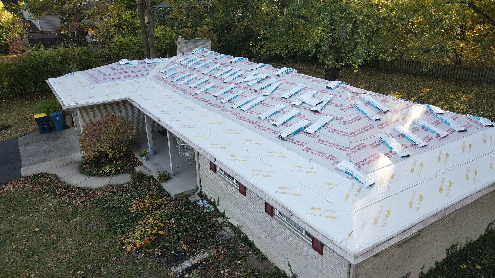 Roof Replacement in Progress in Indianapolis