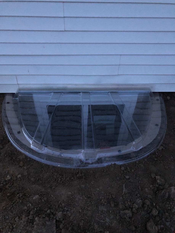 After egress window install