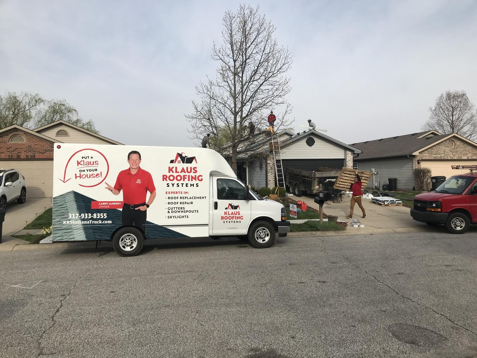 Klaus Roofing Systems Truck