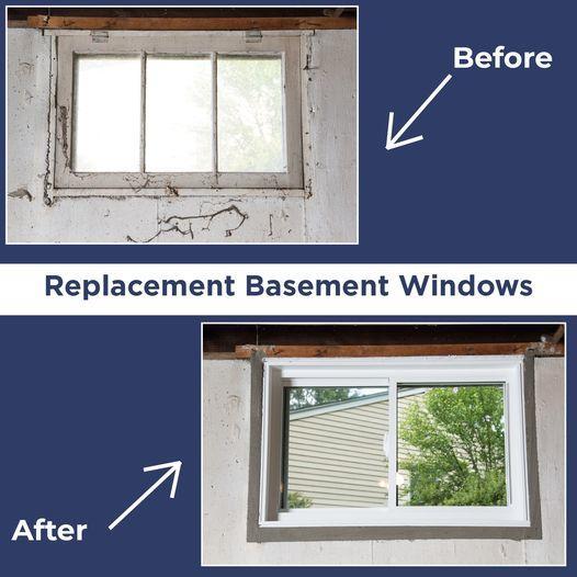 Replacing Basement Windows in Colchester, Vermont, by Matt Clark's Northern Basement Systems.