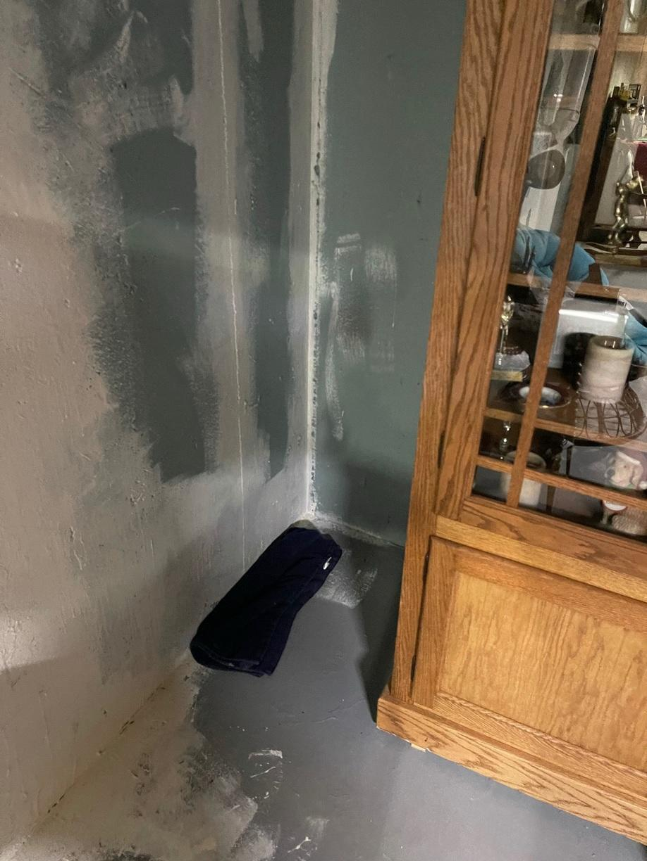 Waterproofing needed in basement of home in Mayfield, KS