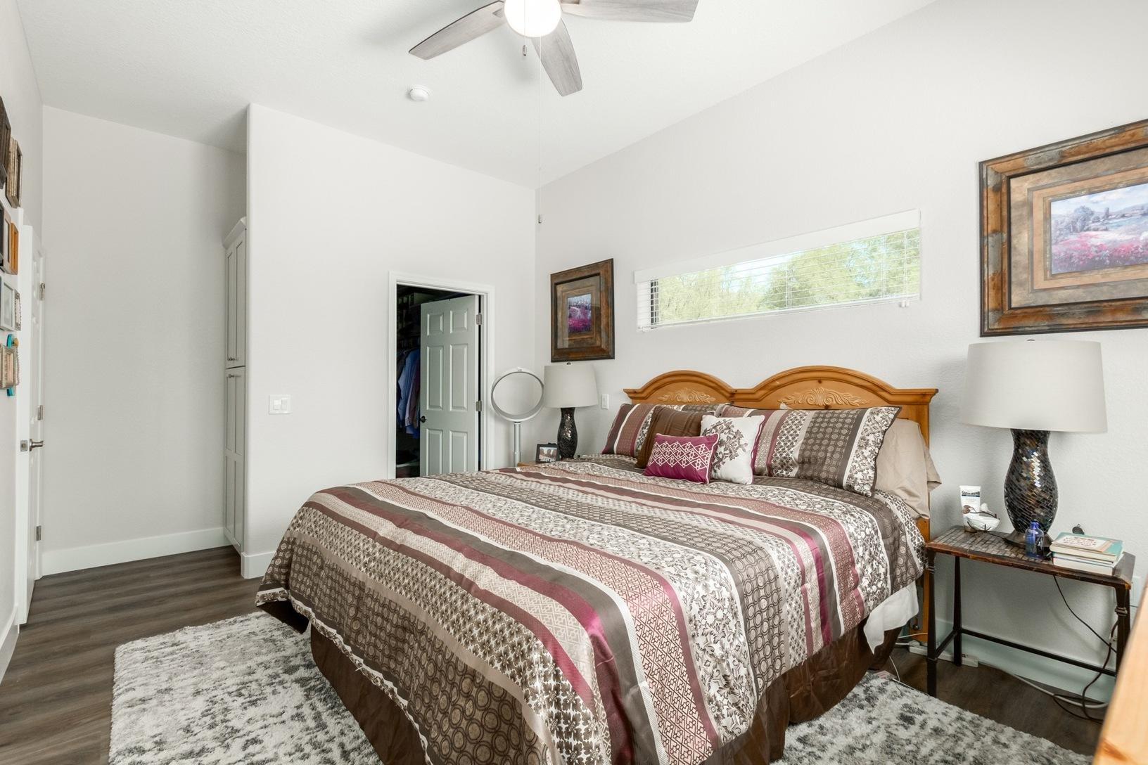Master Bedroom in Scottsdale Casita