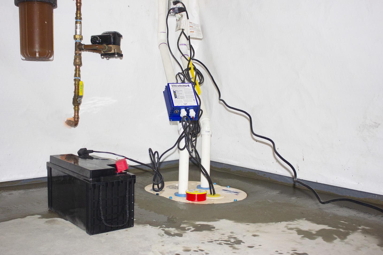 Basement Waterproofing in Weare, New Hampshire, by Matt Clark's Northern Basement Systems.