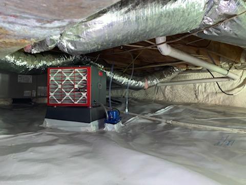 Crawl Space Dehumidifier