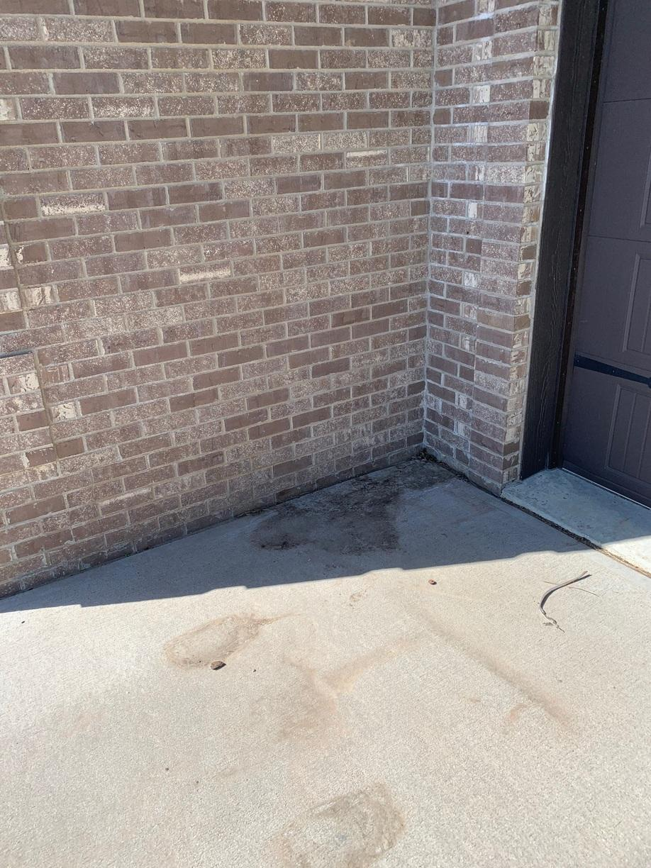 Front entryway concrete settled