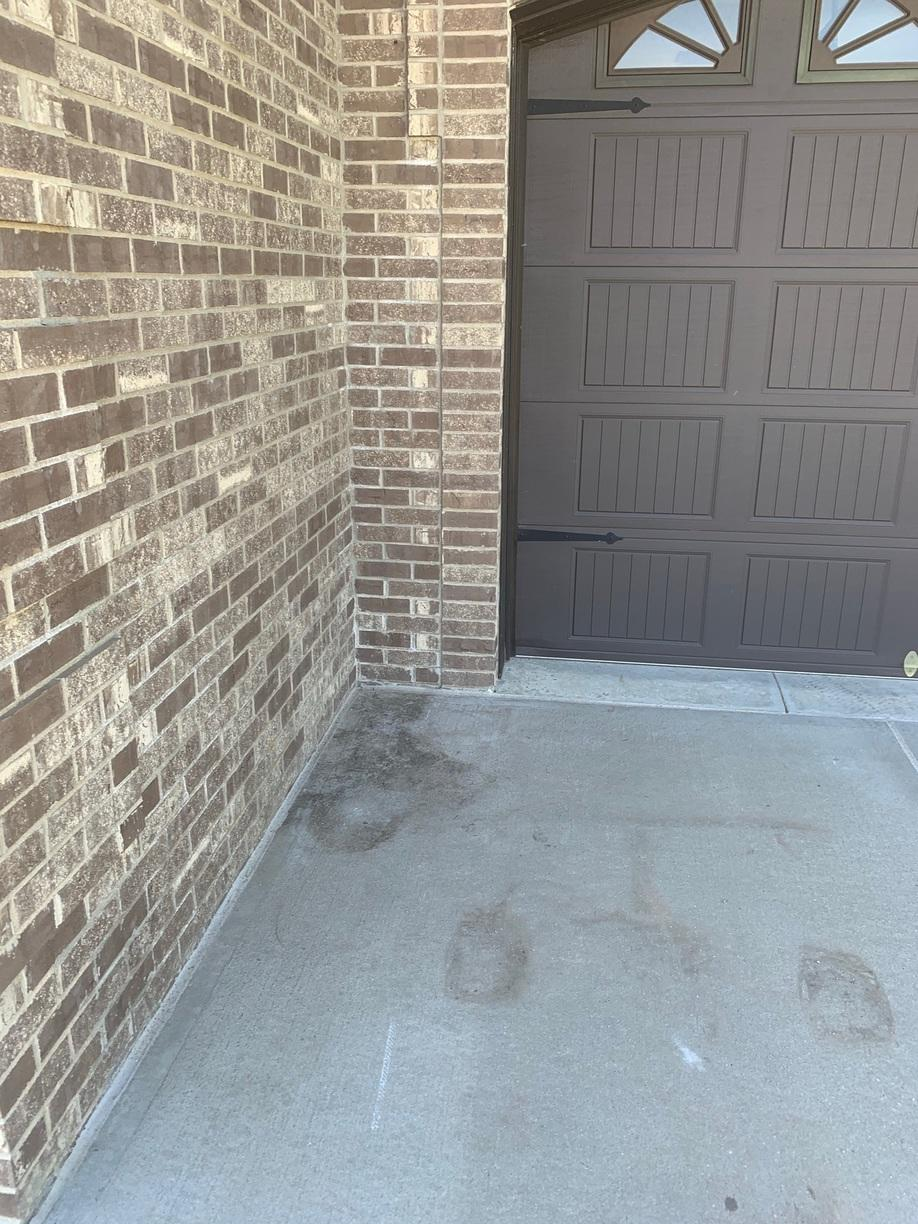 Front entryway now leveled