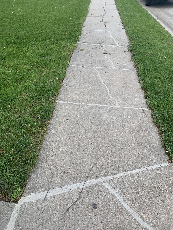 Sealed and Leveled Sidewalk