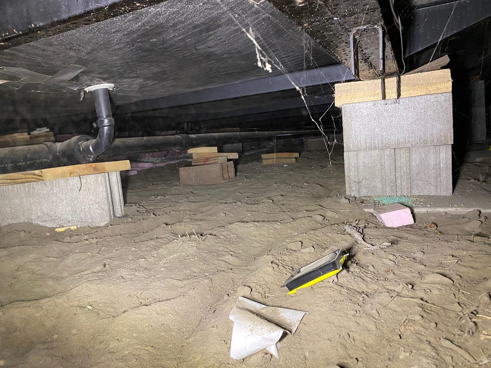 The crawl space before the project was started