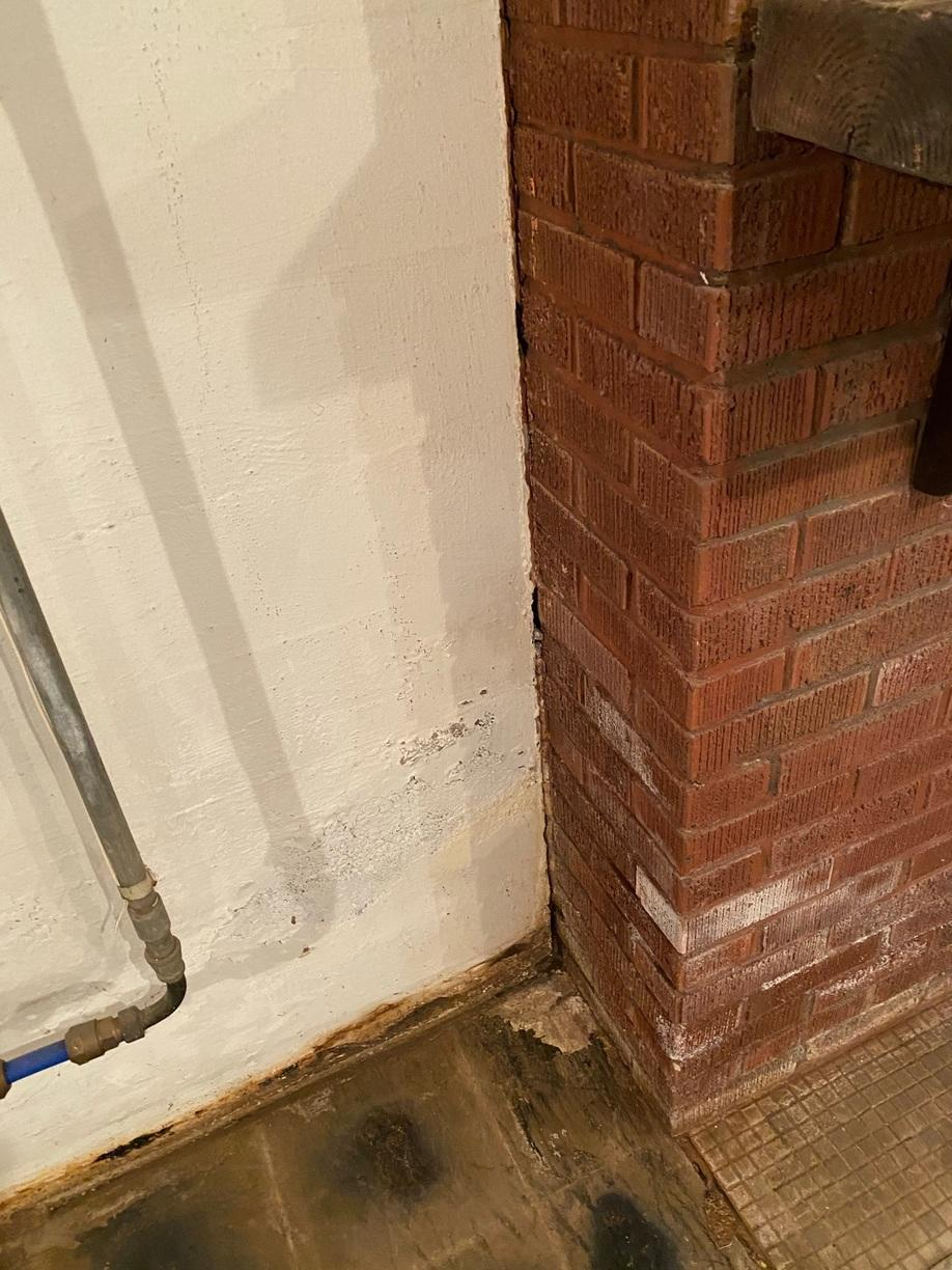 Separation Between the Fireplace and Foundation