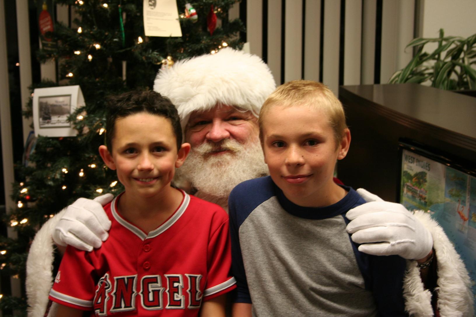 Santa and the boys