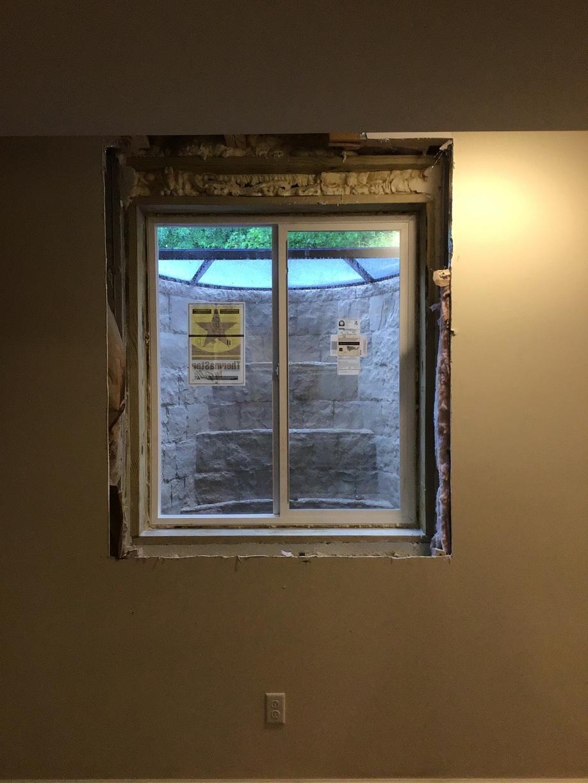 Half-Finished Egress Window