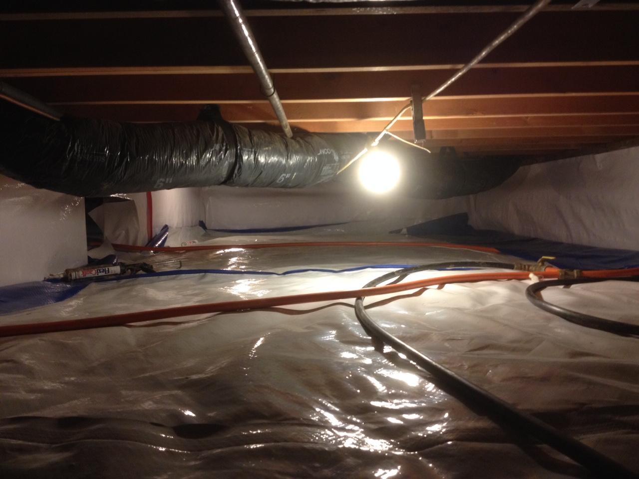 Princeton, IN crawlspace encapsulation complete