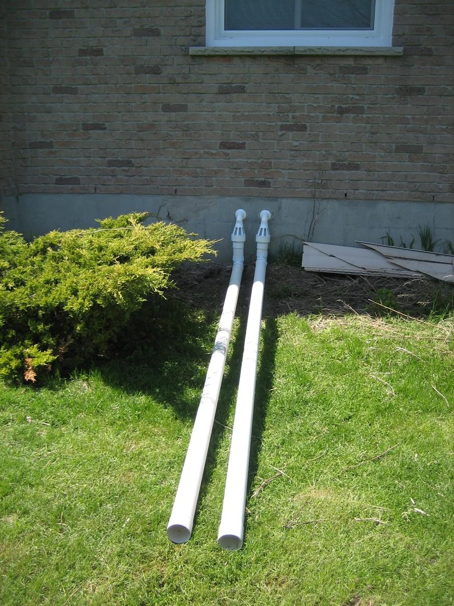 Discharge & IceGuard Leads Sump Pump Water Away From Foundation