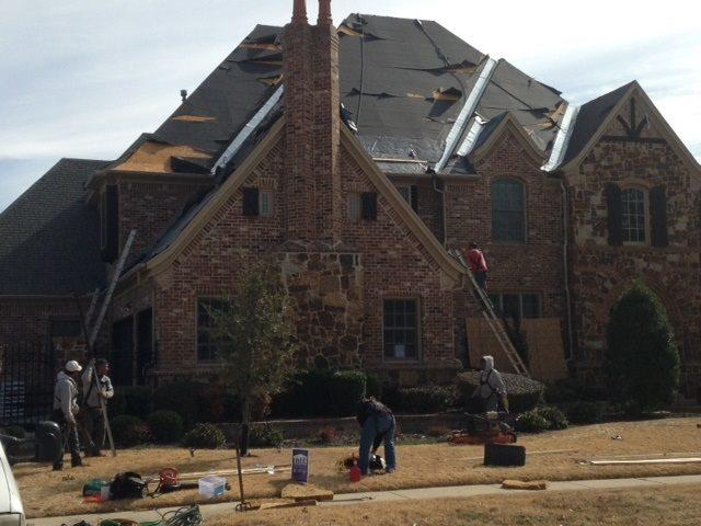 Titan Contractors Replacing A Roof In Colleyville Tx
