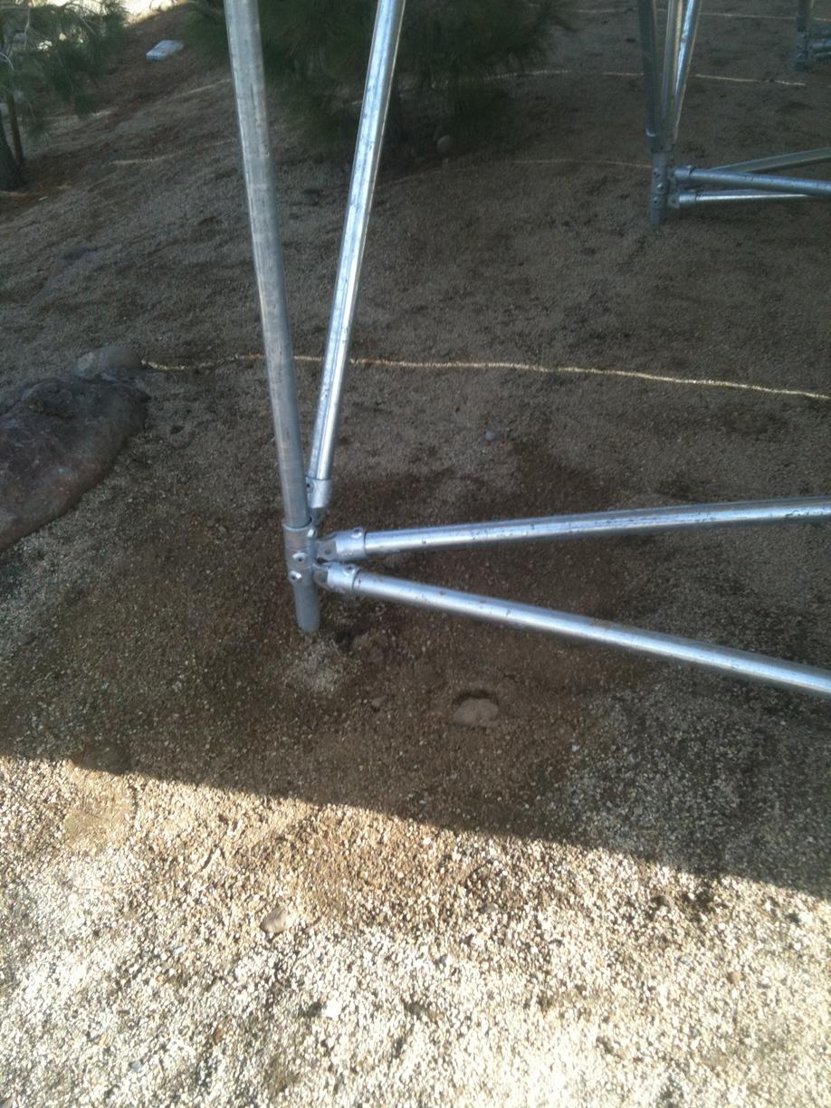 Close Up picture of micropile anchor for solar array Reno, NV 89511