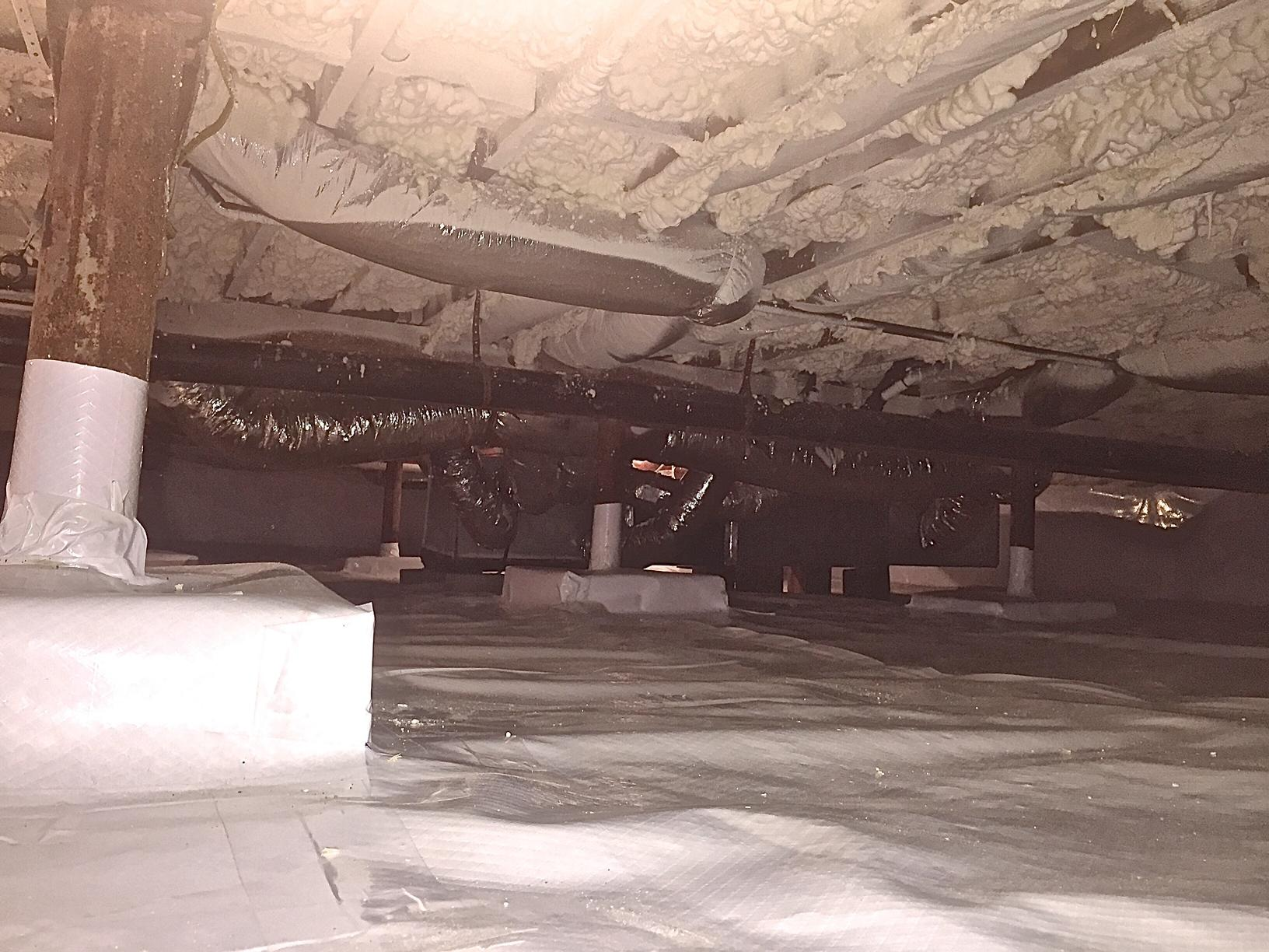 Crawl Space Insulation Open Cell Spray Foam Insulation