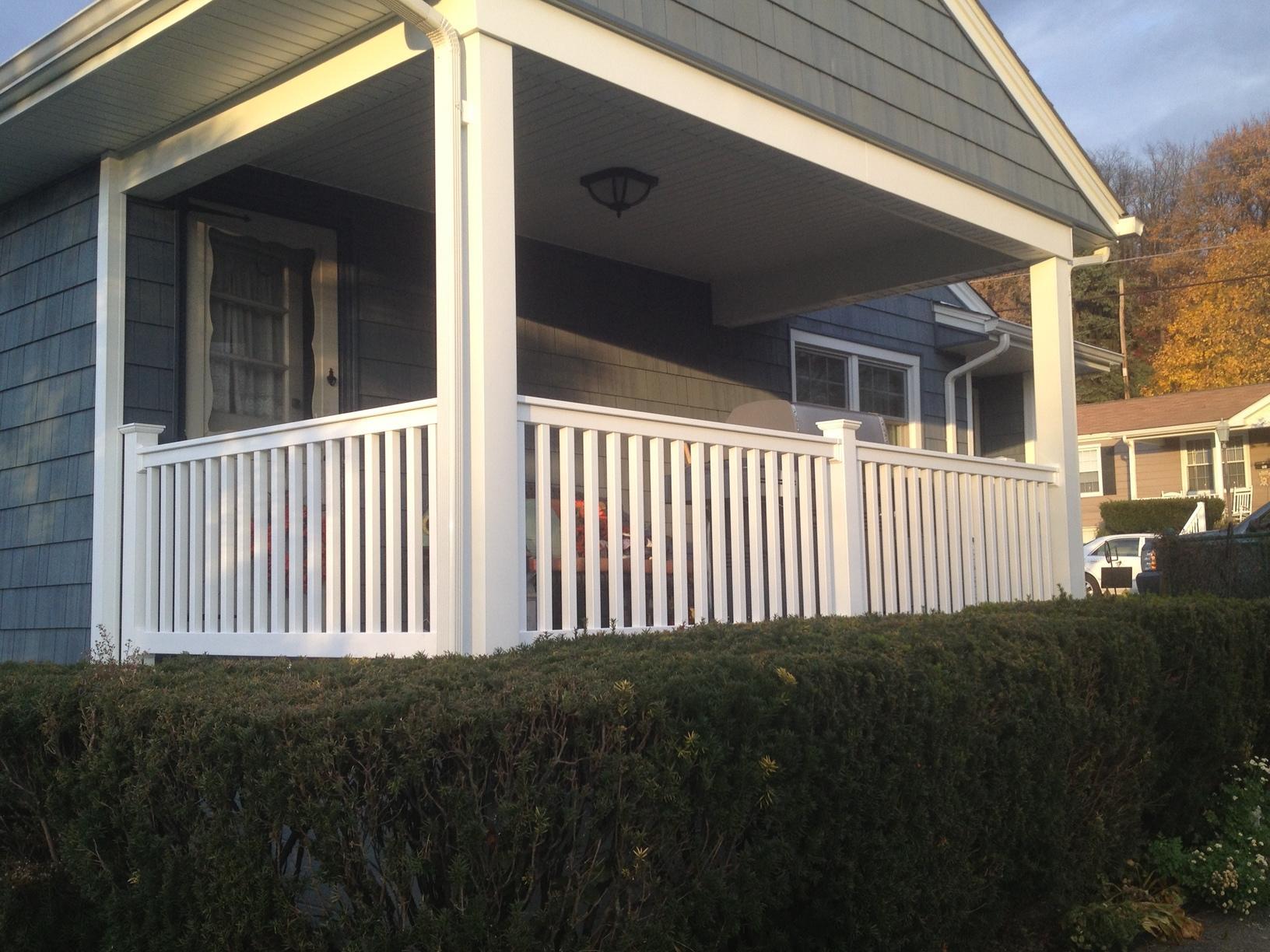 Pro Fence & Railing - Handrails - Front Porch White Vinyl ...