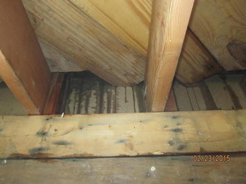 Interior Leak from Ice Damming