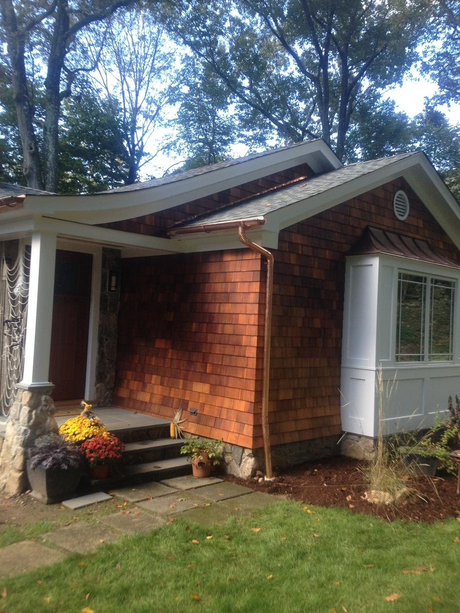 Check Out These Seamless Copper Gutters in Norwalk