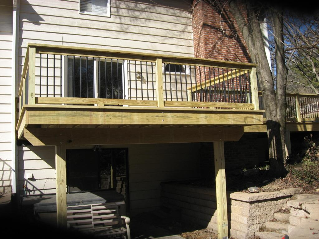 Treated Wood Deck Install in Missouri