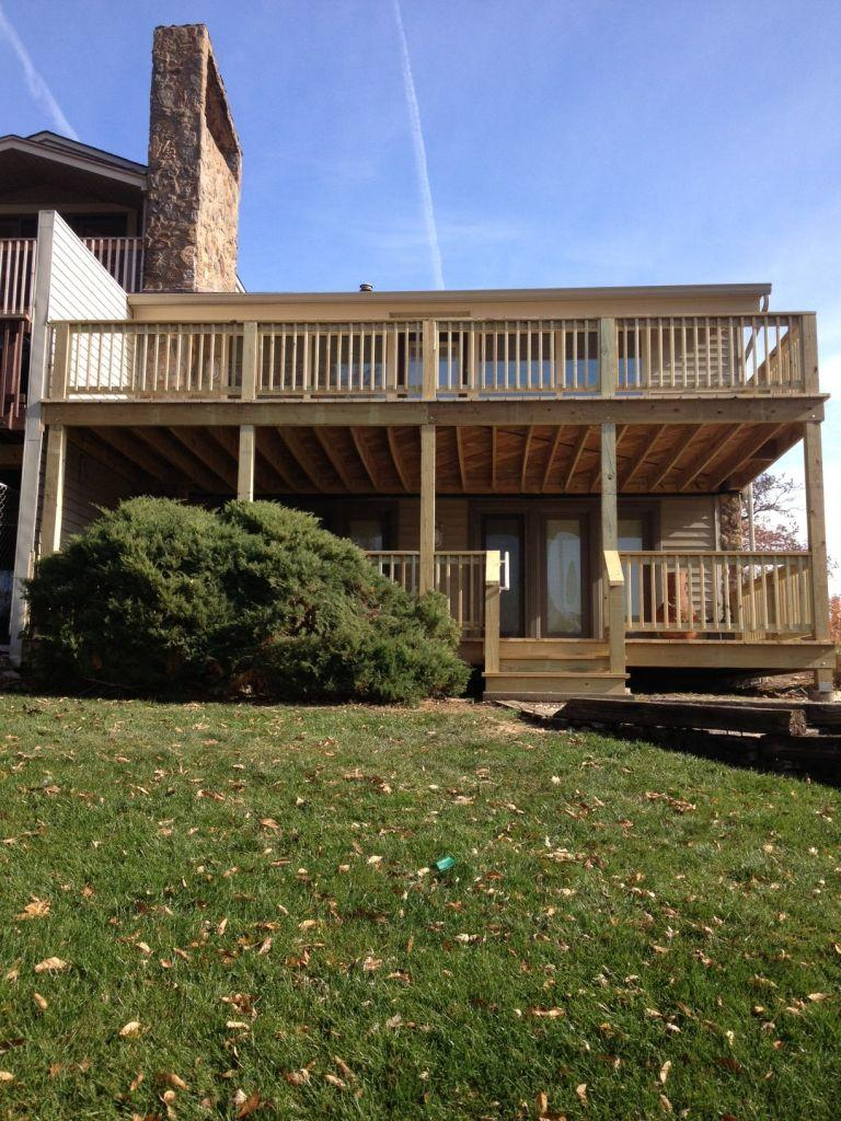 Treated Wood Decking Installation in Missouri