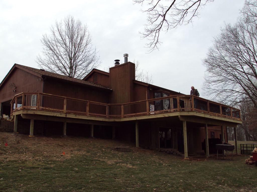 Deck Built using Eastern Cedar