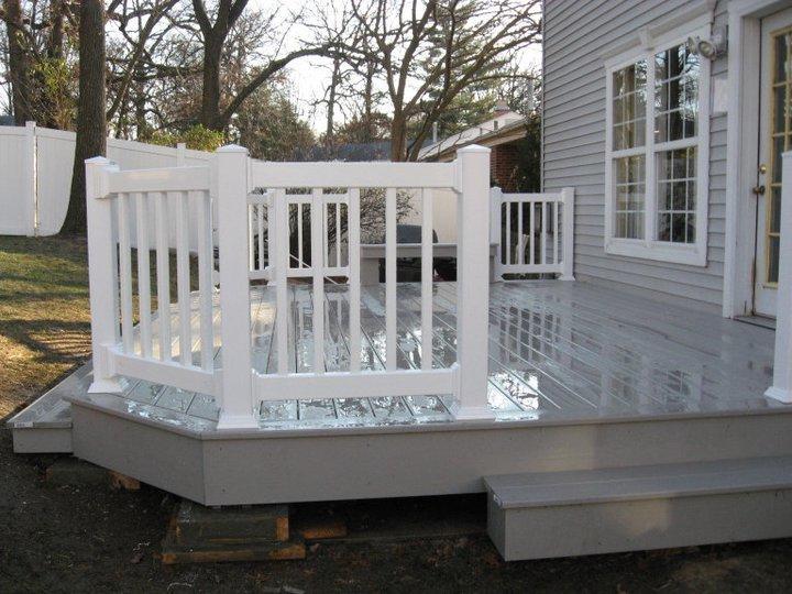 White Deck Handrails