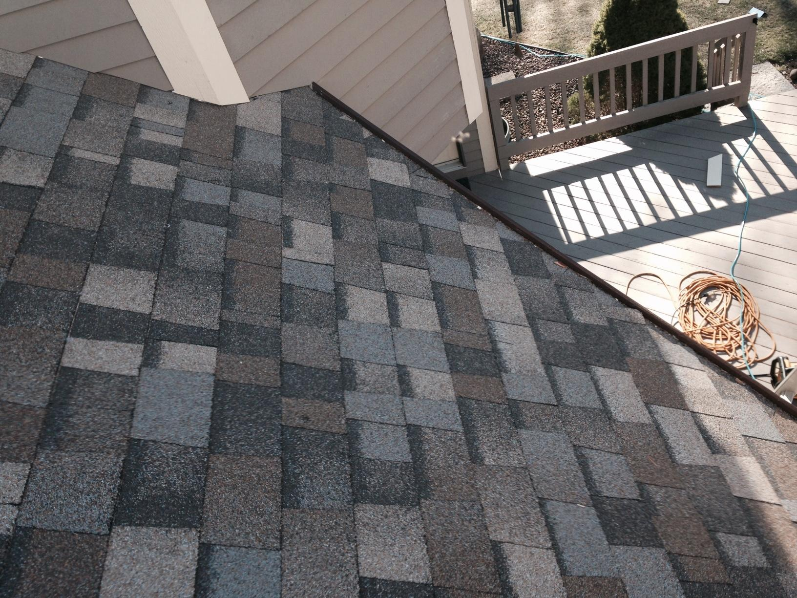 Roof Replacement Roofing Project And Chimney Siding In