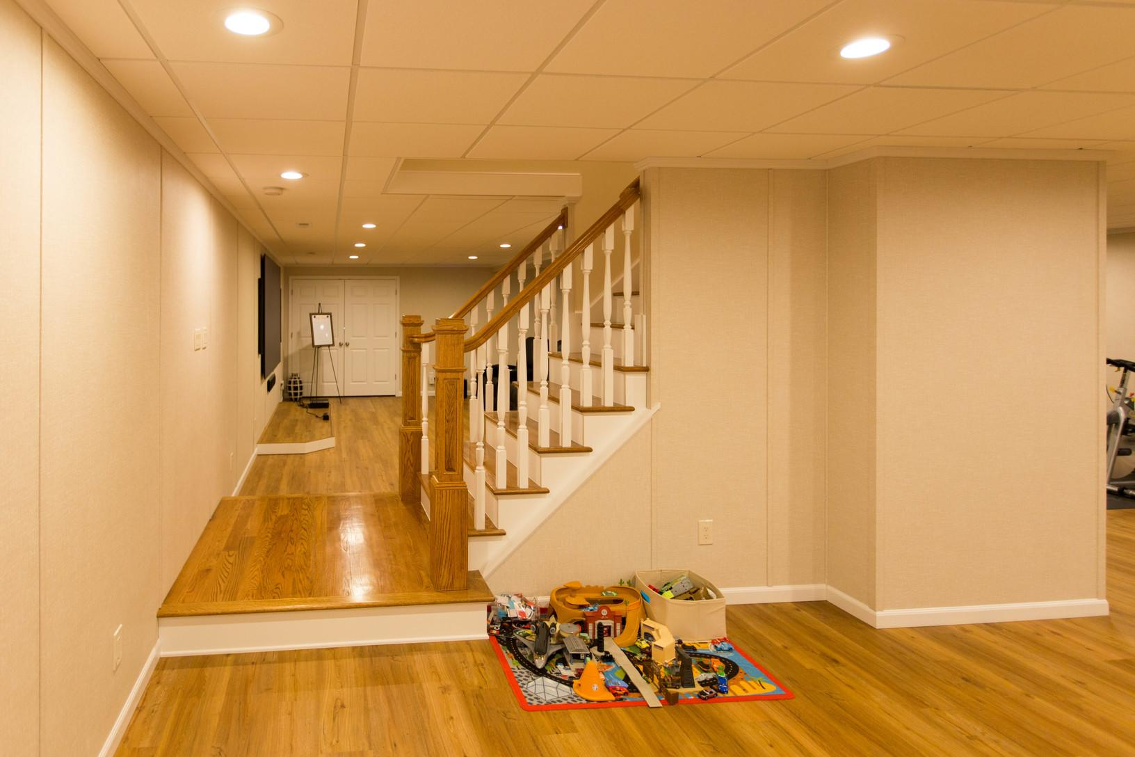 Basement Staircase & Landing - AFTER