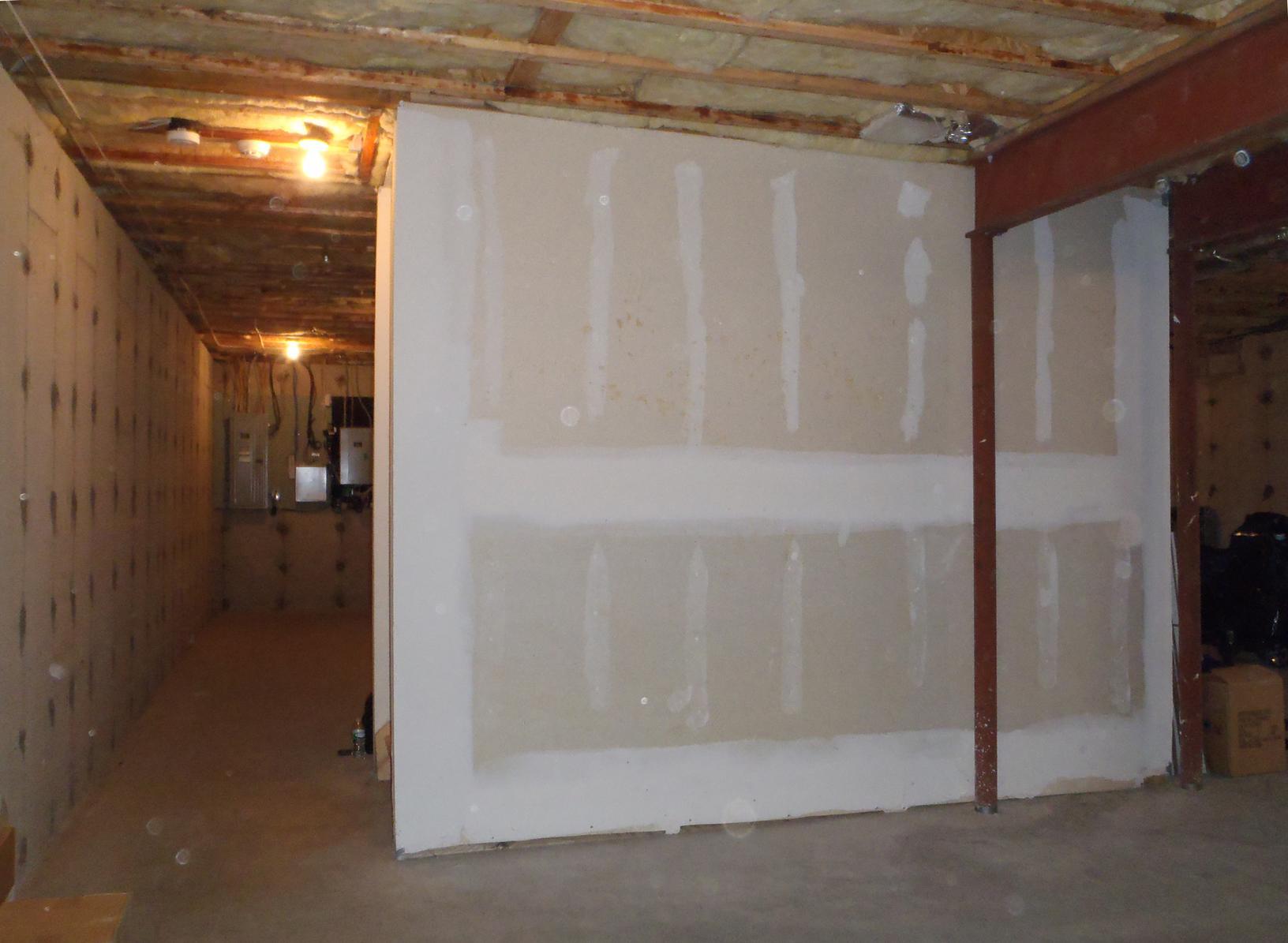 Basement Staircase & Landing - BEFORE