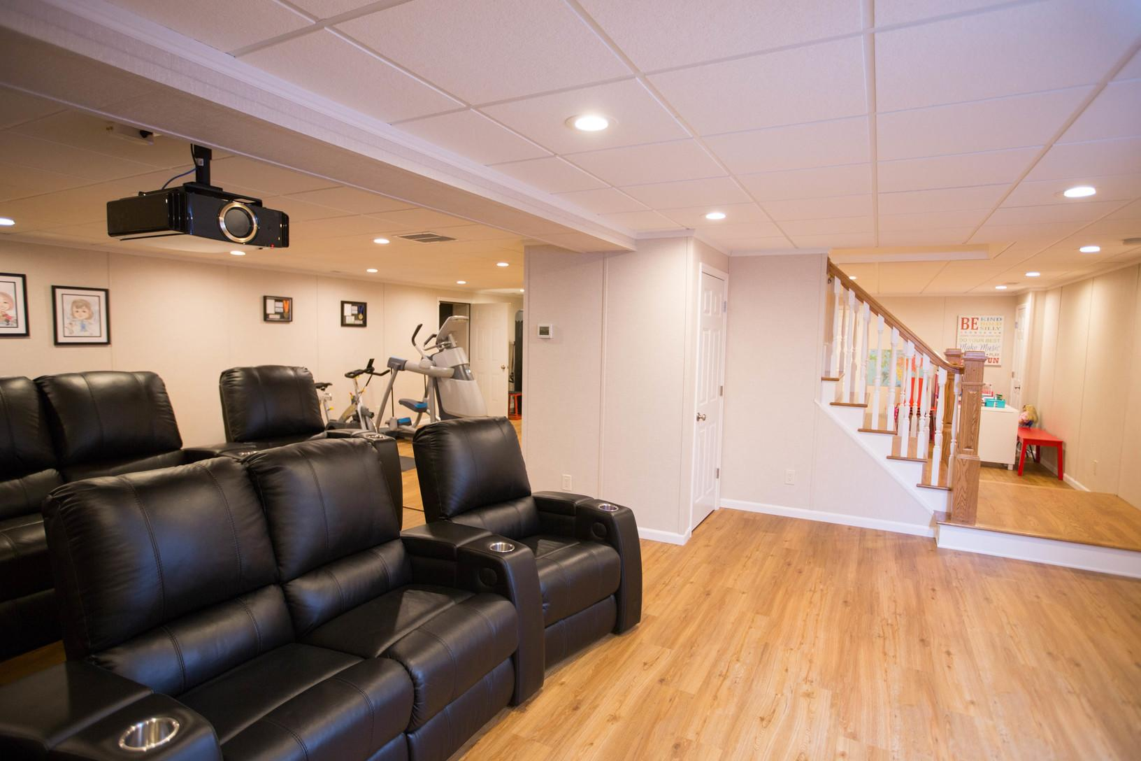 Basement Home Theater - AFTER