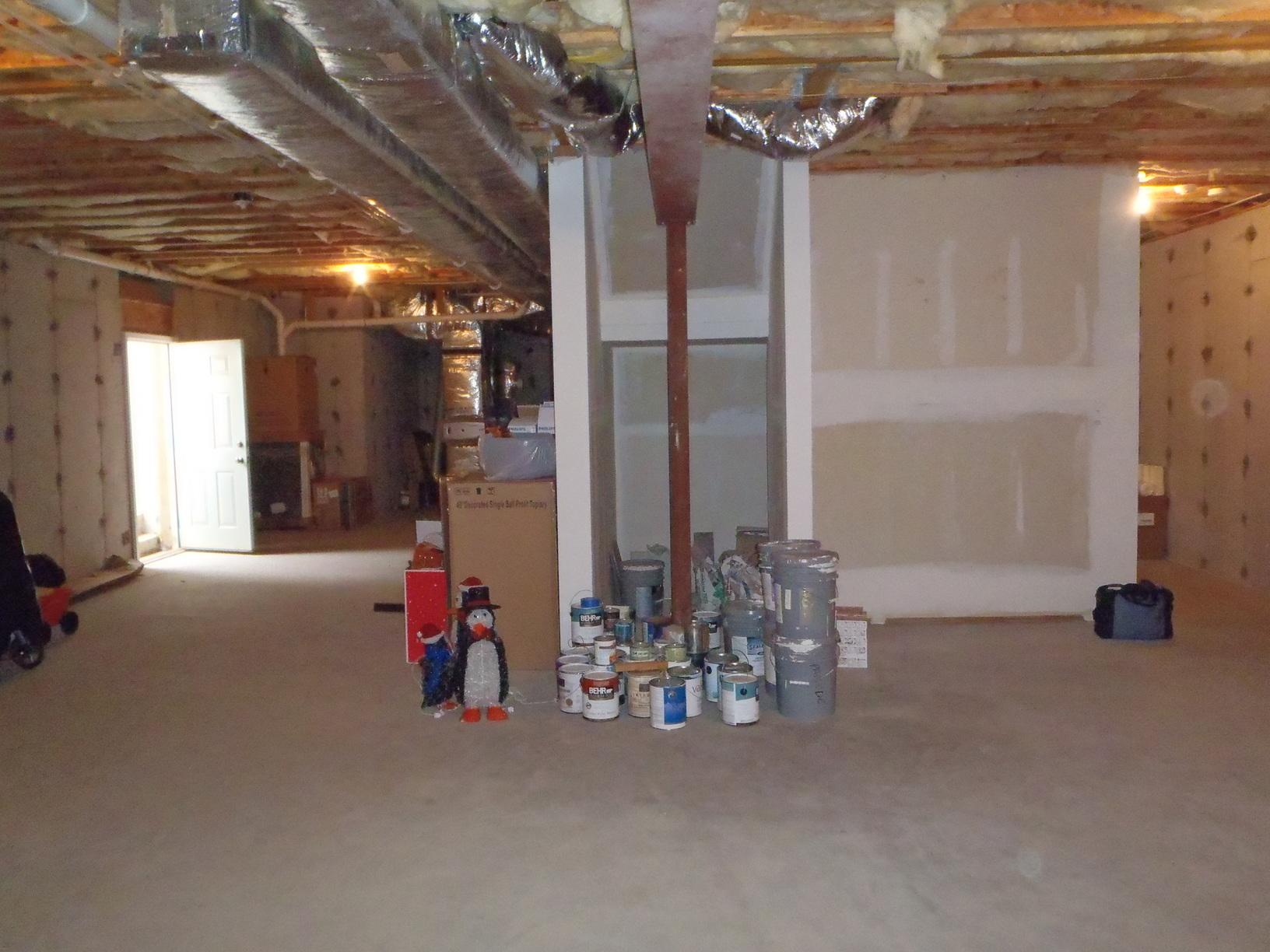 Basement Home Theater - BEFORE
