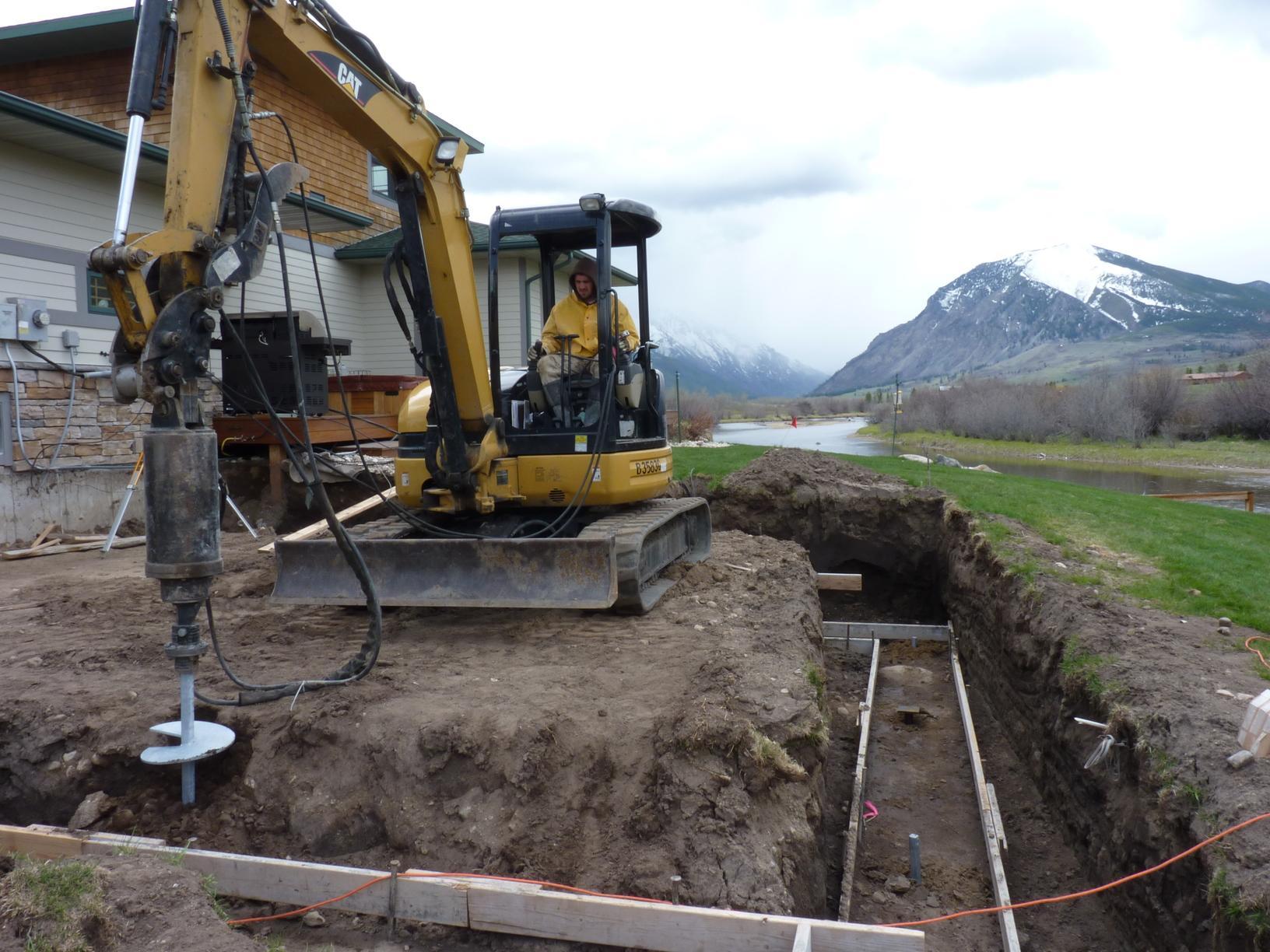 New Construction Helical Pier Installation in Sandy Soils - West Rosebud River, MT