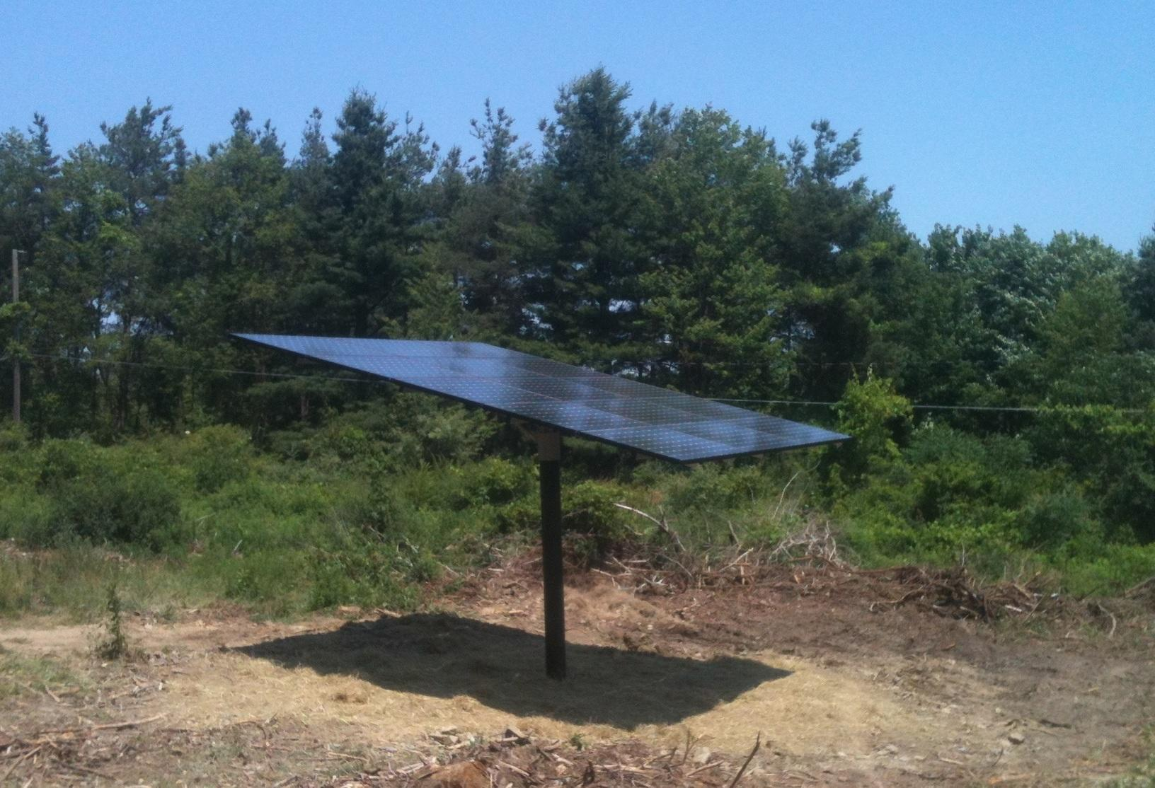Solar Pole-Mount Installation in Ithaca, NY
