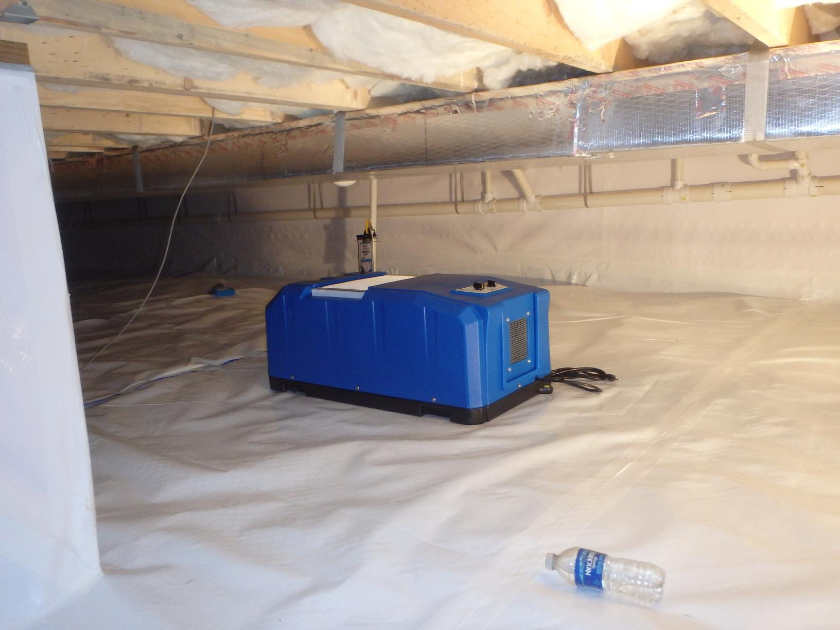 SaniDry Dehumidifier Install in the Crawl Space