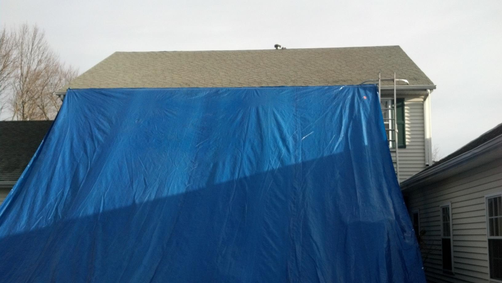 Tarping a Roof in Monroe, CT