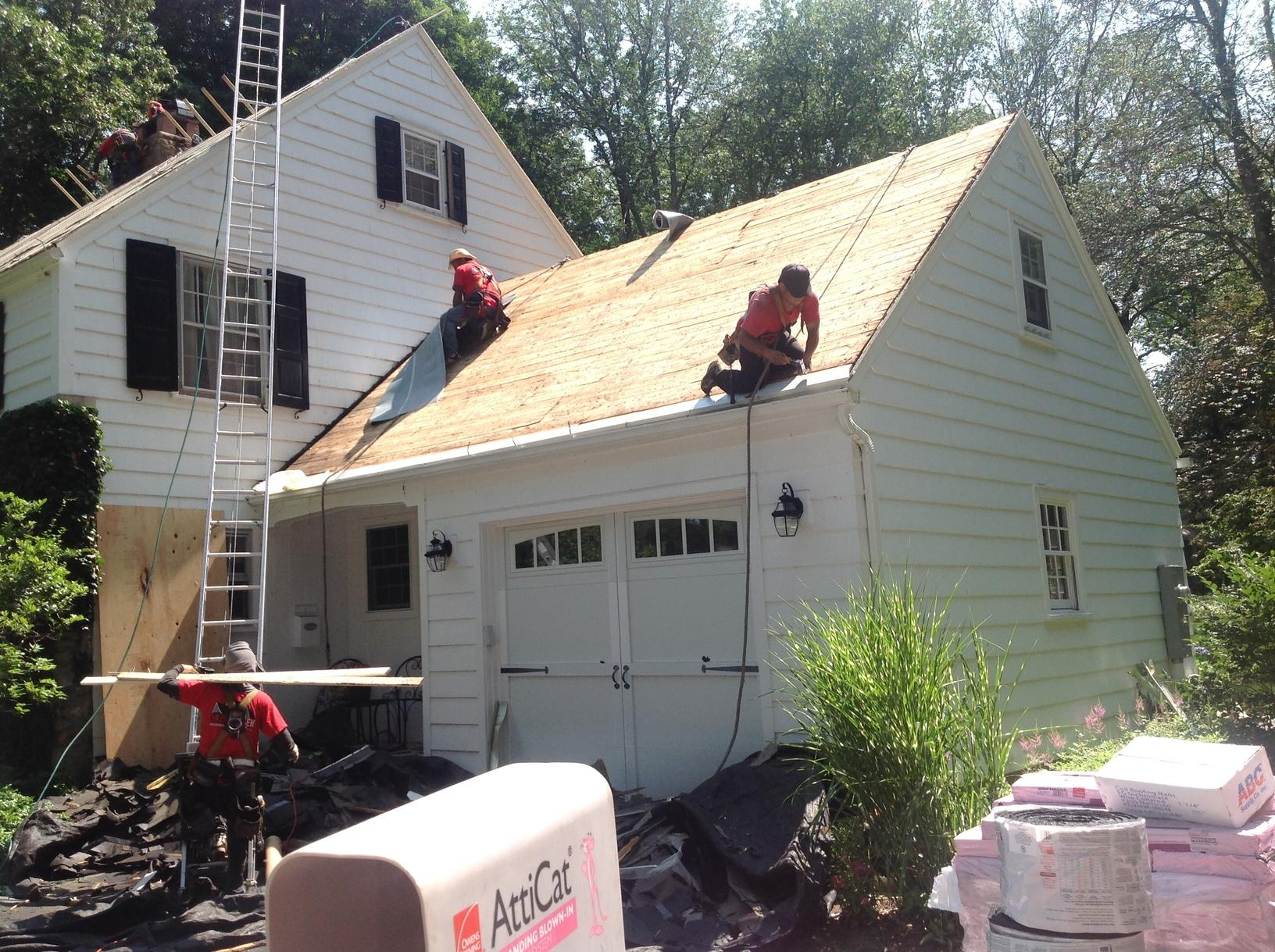 Blown In Insulation With Roof Replacement In Storrs Ct