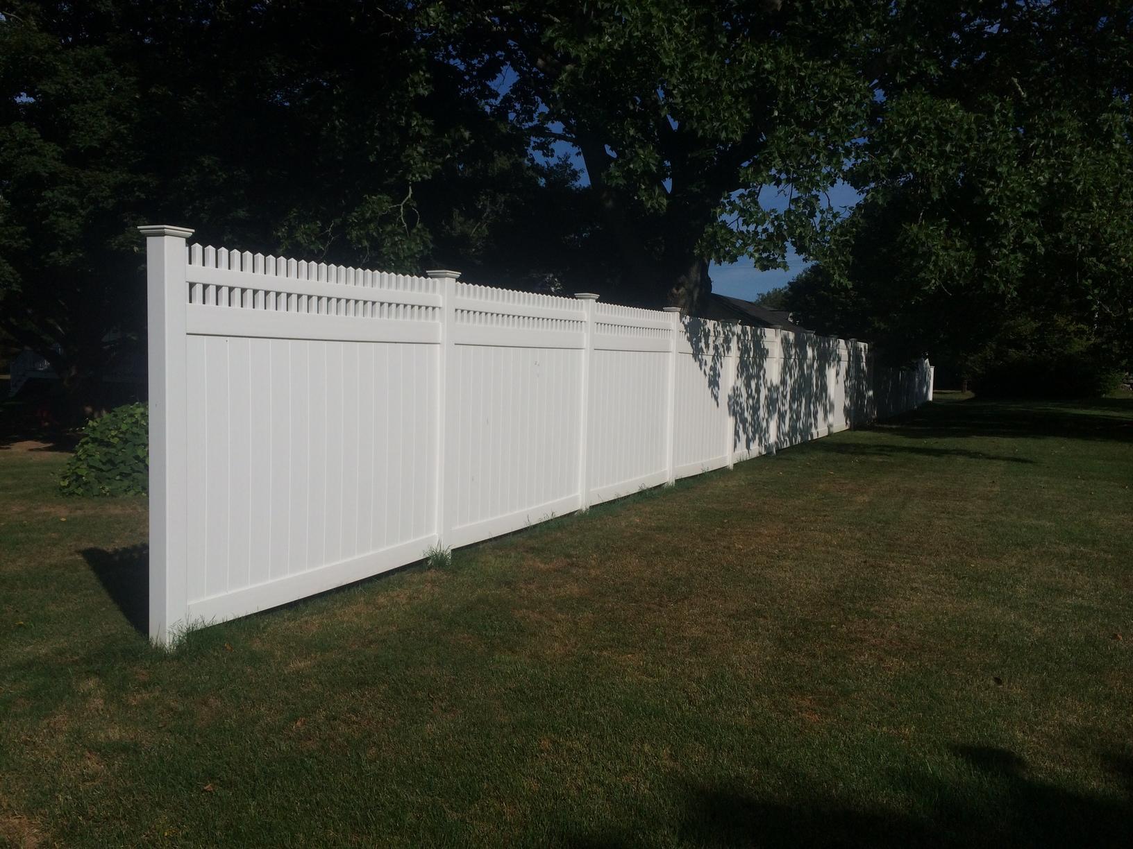 PVC Fence Install in Orange, CT
