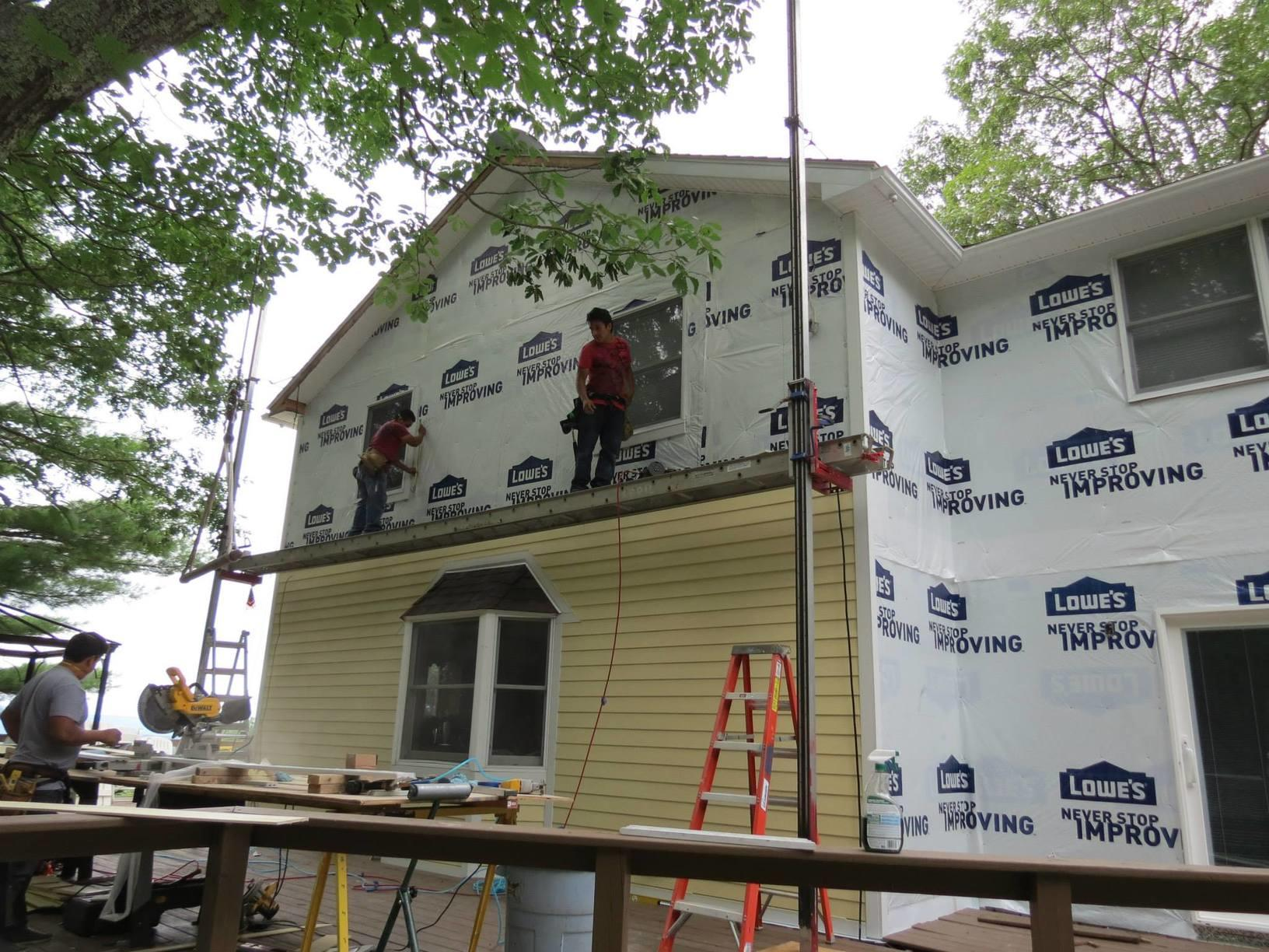 Installing the New Siding in Olivebridge, NY
