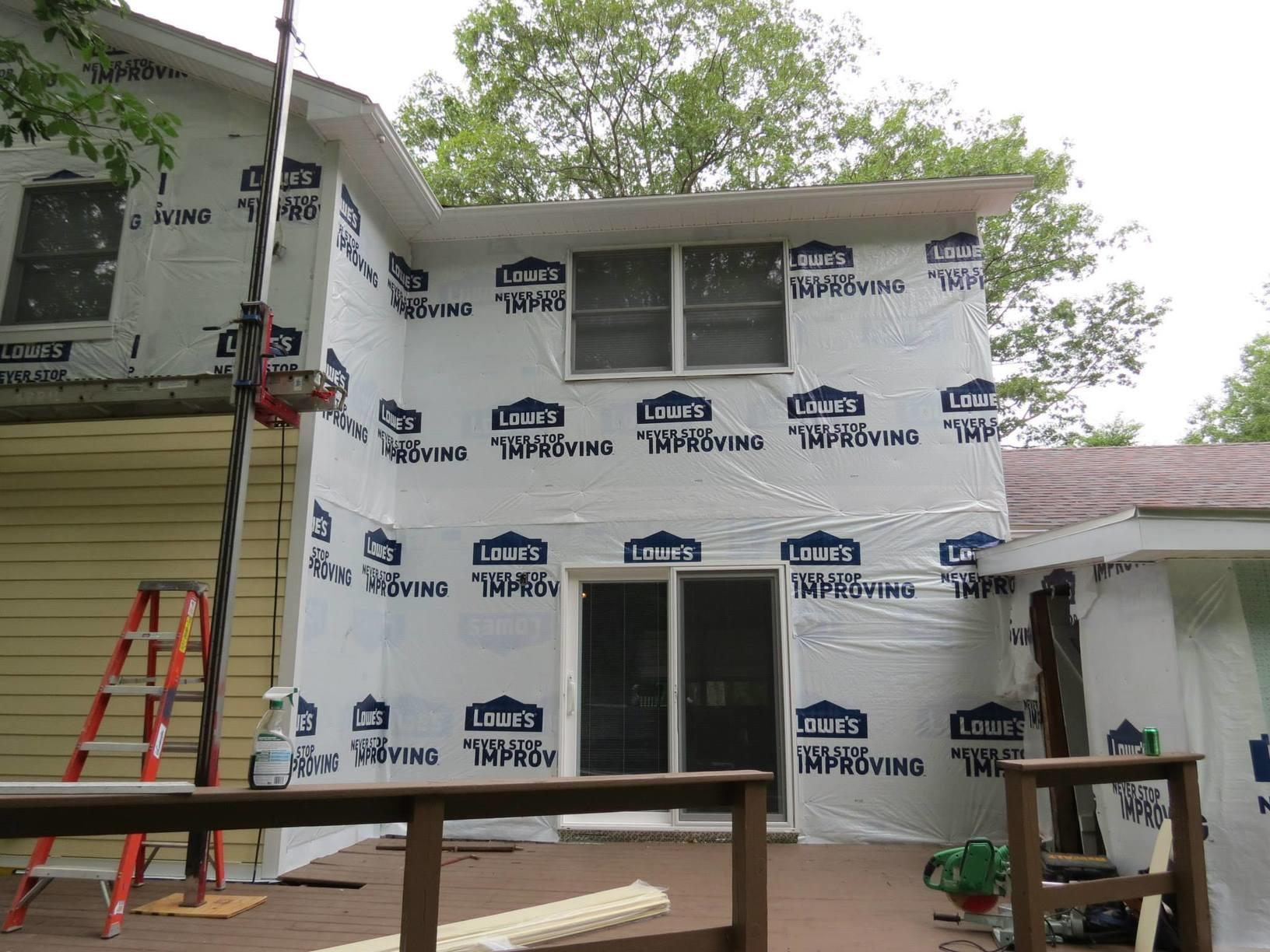 Rear view of siding installation in Olivebridge