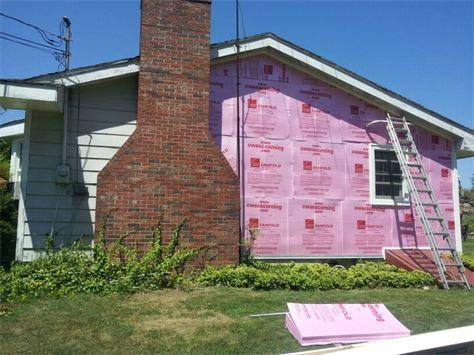 During the Siding Install