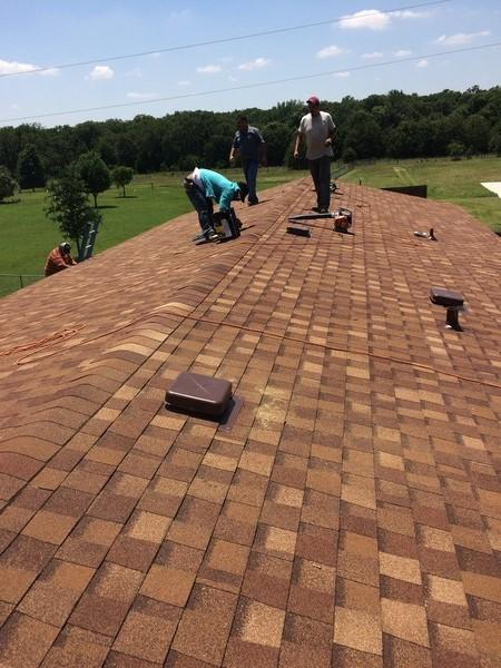 Finishing the Roof in Azle, TX