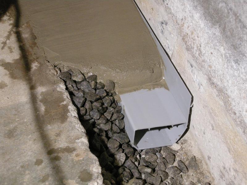 WaterGuard Basement Waterproofing System in Branford, CT