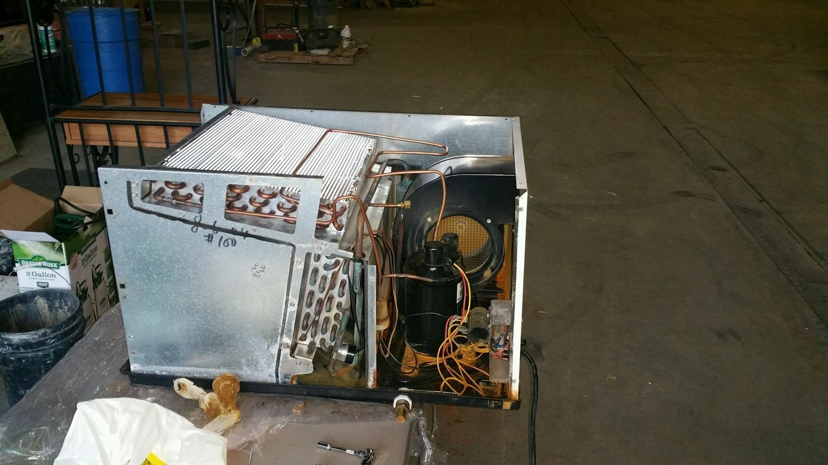 Mid-Reassembly of the Dehumidifier